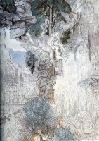 The Chimeras Detail by Gustave Moreau
