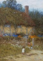 A Cottage near Godalming Surrey by Helen Allingham