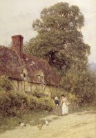 Old Post Office Brook near Witley Surrey by Helen Allingham