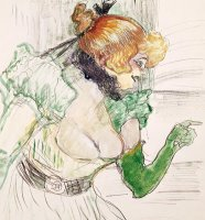 Artist With Green Gloves - Singer Dolly From Star At Le Havre by Henri de Toulouse-Lautrec