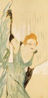 Yvette Guilbert (1867 1944) Taking a Curtain Call by Henri de Toulouse-Lautrec
