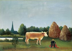 Scene in Bagneux on The Outskirts of Paris by Henri Rousseau