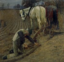 The Last Furrow by Henry Herbert La Thangue