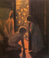 The Christmas Tree by Henry Mosler