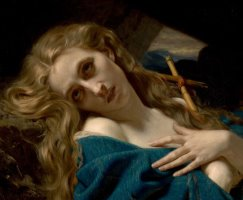 Mary Magdalene in The Cave by Hughes Merle