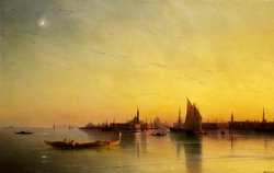 Venice From The Lagoon at Sunset by Ivan Ayvazovsky