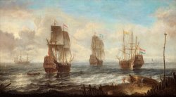 Circle Of Sailing Ships by Jacob Adriaensz Bellevois