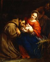 The Holy Family with Saint Francis by Jacob van Oost