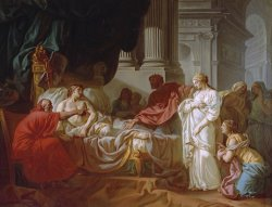 Erasistratus Discovers The Cause of Antiochus's Disease by Jacques Louis David