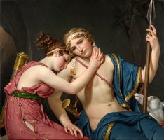 The Farewell of Telemachus And Eucharis by Jacques Louis David