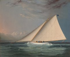 A Racing Yacht on The Great South Bay by James Edward Buttersworth