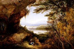 Scene on The Hudson (rip Van Winkle) by James Hamilton
