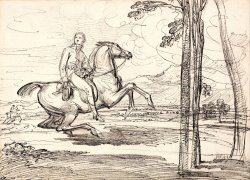 A Horseman in a Landscape Probably a Study for