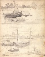 Studies of Boats on a Riverside by James Ward