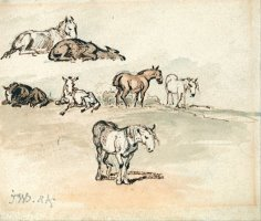 Studies of Horses by James Ward