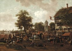 The Fair at Oegstgeest by Jan Havicksz Steen