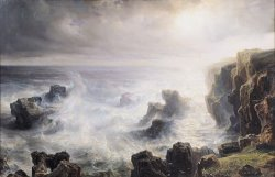 Storm off the Coast of Belle Ile by Jean Antoine Theodore Gudin