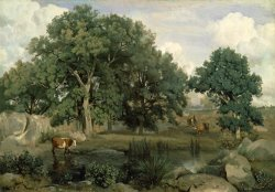 Forest of Fontainebleau by Jean Baptiste Camille Corot