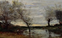 Paturages Marecageux by Jean Baptiste Camille Corot