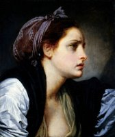 Head of a Woman by Jean-baptiste Greuze