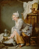 The Laundress (la Blanchisseuse) by Jean-baptiste Greuze