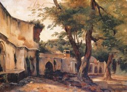 Fountain Near Algiers by Jean Charles Langlois