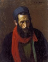 Portrait D'un Juif by Jean Leon Gerome