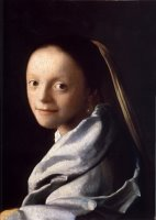 Study of a Young Woman by Johannes Vermeer