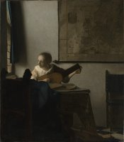 Woman with a Lute Near a Window by Johannes Vermeer