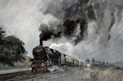 Steam Train at Garsdale - Cumbria by John Cooke