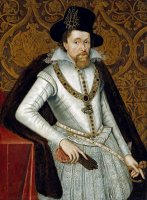 Portrait of King James VI of Scotland, James I of England by John De Critz