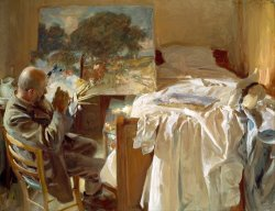 An Artist in His Studio by John Singer Sargent