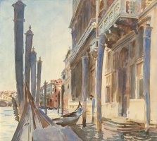 Gondola Moorings on The Grand Canal by John Singer Sargent