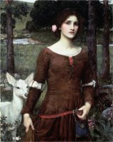The Lady Clare 1900 by John William Waterhouse