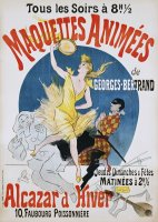 Maquettes Animees De Georges Bertrand Poster by Jules Cheret