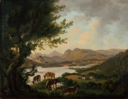 Lake Windermere by Julius Caesar Ibbetson