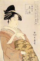 Courtesan Hanao Gi of The O Giya House by Kitagawa Utamaro