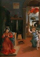 Annunciation by Lorenzo Lotto
