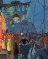 Avenue De Clichy Paris by Louis Anquetin