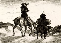 Don Quixote And Sancho Panza by Louis Anquetin