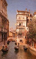 Along The Canal, Venice by Martin Rico y Ortega