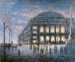 Paris, La Place Du Theatre Du Chatelet by Maximilien Luce