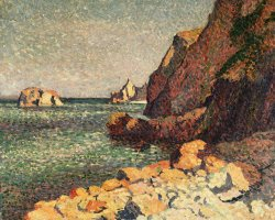 Sea And Rocks at Agay by Maximilien Luce