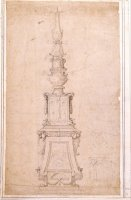 Design for a Candelabrum by Michelangelo Buonarroti