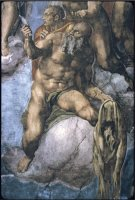Saint Bartholomew with His Flayed Skin by Michelangelo Buonarroti