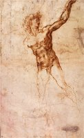 Sketch of a Nude Man by Michelangelo Buonarroti