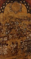 The Conquest of Mexico. Tabla V by Miguel Gonzales