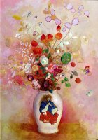 Bouquet Of Flowers In A Japanese Vase by Odilon Redon