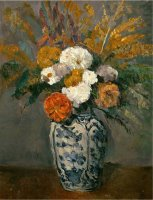 Dahlias Circa 1873 by Paul Cezanne