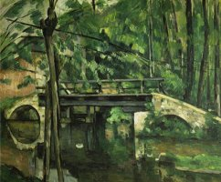 Die Bruecke in Maincy Gegen 1879 by Paul Cezanne